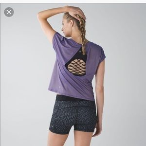 Lululemon Sweaty Or Not Cropped Short Sleeve Tee